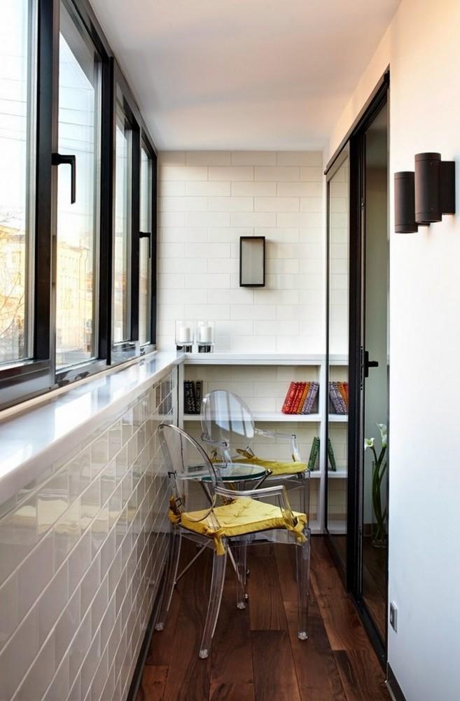 Отделка балконов внутри: материалы, идеи, фото готовых решен.