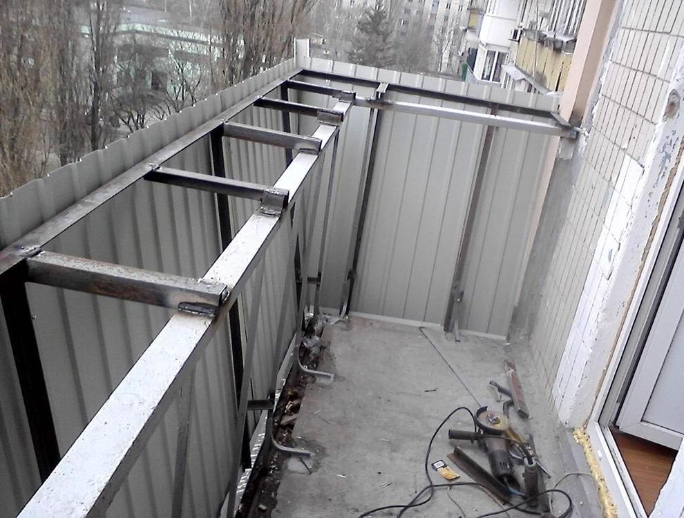 Балкон с выносом фото.