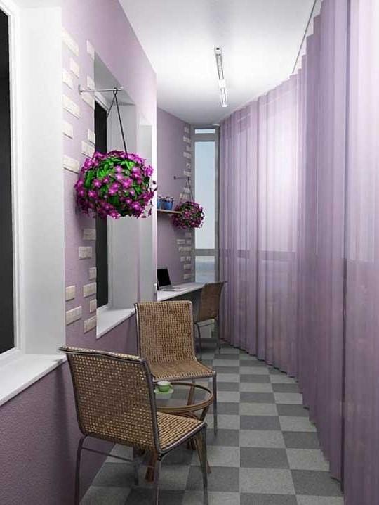 """Внутренняя отделка балконов и лоджий: дизайн своими руками.""""."""