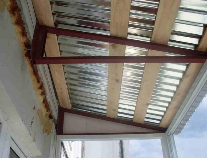 Как сделать крышу на балконе: своими руками, на последнем эт.