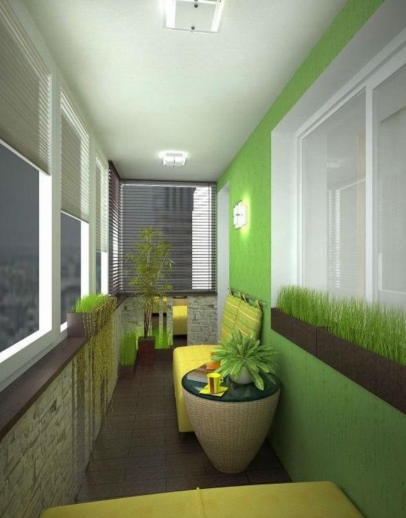 Интерьер балконов и лоджий фото.