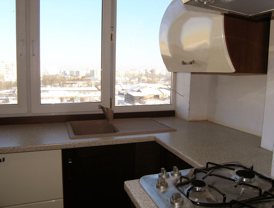 Фото выносакухни на балкон. - купить стекло, двери и окна - .
