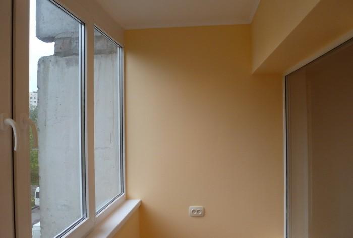 Внутренняя отделка балконов гипсокартоном.