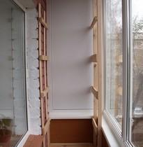 Примеры изготовления стеллажей для балконов и лоджий от (ооо.