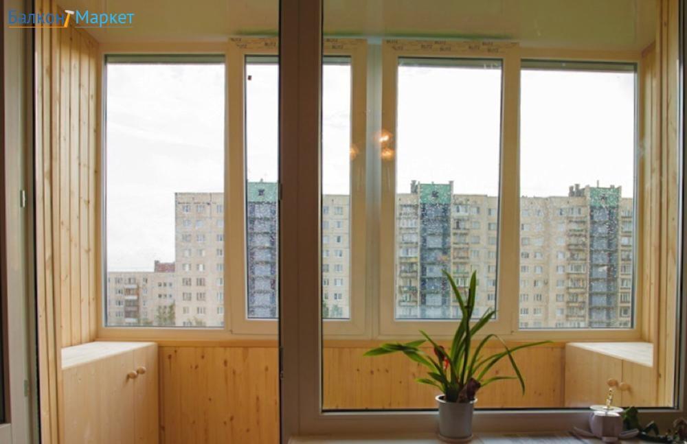 """Остеклить балкон пластиковыми рамами по цене с завода """"пск к."""